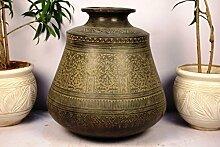 Indianshelf handwerkliche piantatrice von Bronze x Statue Dekoration Designer Erklärung Vintage Stück Online Neue