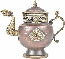 Indianshelf Kunsthandwerk von Kupfer Teekanne &