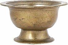 Indianshelf Messing handgefertigt Hand die Medizin Vase Rare Pot Cup Statue Dekoration Designer Erklärung Vintage Stück Online Neue