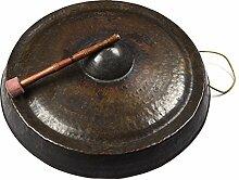 Indianshelf Rustikaler Bronze Handarbeit ein Versuchen Gong Statue Dekoration Designer Erklärung Vintage Stück Online Neue