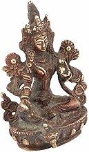 Indianshelf Sitz handgefertigte Messing Tara Statue Dekoration Designer Erklärung Vintage Stück Online Neue