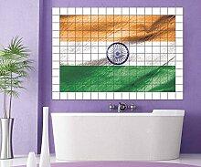 Indien Fliesenaufkleber 15 10 25 20 cm Flagge