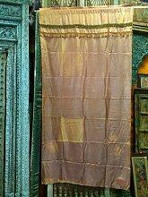 Indien Vorhänge Gelb Gold Seide Sari Vorhang