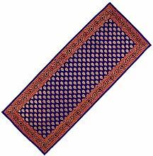 Indigo blau Tabelle Läufer-indianische Kunst Seide Brokat Startseite dekorative Elemente 36 x 91 cm