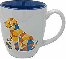 Indigo Falls Tasse mit Origami-Motiv, 473 ml