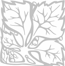 INDIGOS 4051095289128 Wanderaufkleber - e67 hübsche Blümchen mit Blättern, Vinyl, glasdekor, 40 x 39 x 1 cm