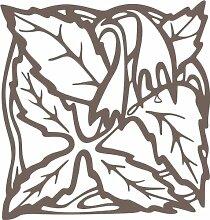 INDIGOS 4051095338581 Wandaufkleber - e82 Blätter mit hängenden Blümchen, Vinyl, braun, 80 x 76 x 1 cm