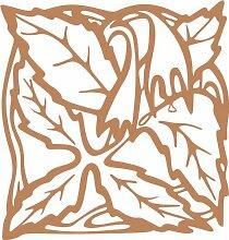 INDIGOS 4051095338819 Wandaufkleber - e82 Blätter mit hängenden Blümchen, Vinyl, hellbraun, 96 x 91 x 1 cm