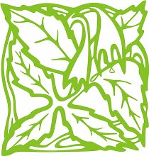 INDIGOS 4051095338840 Wandaufkleber - e82 Blätter mit hängenden Blümchen, Vinyl, lindgrün, 96 x 91 x 1 cm