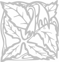 INDIGOS 4051095338864 Wandaufkleber - e82 Blätter mit hängenden Blümchen, Vinyl, glasdekor, 96 x 91 x 1 cm