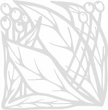 INDIGOS 4051095339113 Wandaufkleber - e83 schöne Blätter mit Kugeln, Vinyl, silber, 40 x 39 x 1 cm
