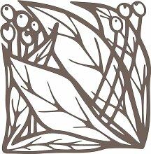 INDIGOS 4051095339120 Wandaufkleber - e83 schöne Blätter mit Kugeln, Vinyl, braun, 40 x 39 x 1 cm