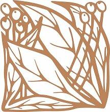 INDIGOS 4051095339359 Wandaufkleber - e83 schöne Blätter mit Kugeln, Vinyl, hellbraun, 80 x 78 x 1 cm