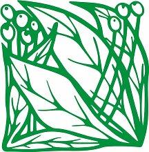 INDIGOS 4051095339465 Wandaufkleber - e83 schöne Blätter mit Kugeln, Vinyl, grün, 96 x 94 x 1 cm