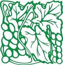 INDIGOS 4051095346661 Wandaufkleber - e93 fruchtige Weintrauben mit Blättern, Vinyl, grün, 96 x 93 x 1 cm