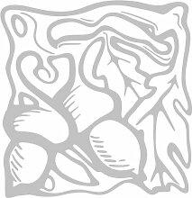 INDIGOS 4051095347323 Wandaufkleber - e94 wunderschöne Blätter mit Kullern, Vinyl, glasdekor, 80 x 77 x 1 cm