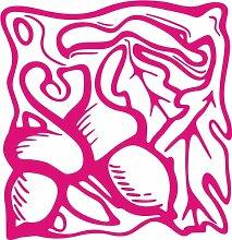 INDIGOS 4051095347422 Wandaufkleber - e94 wunderschöne Blätter mit Kullern, Vinyl, rosa, 96 x 92 x 1 cm