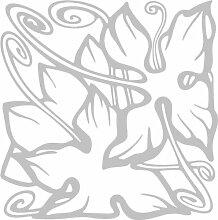 INDIGOS 4051095348221 Wandaufkleber - e95 wunderschöne Blätter mit Spiralen, Vinyl, glasdekor, 96 x 95 x 1 cm