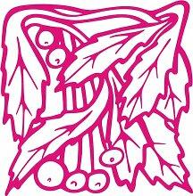 INDIGOS 4051095348504 Wandaufkleber - e96 wunderschöne Blätter mit Kuller, Vinyl, rosa, 40 x 39 x 1 cm