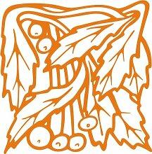 INDIGOS 4051095348818 Wandaufkleber - e96 wunderschöne Blätter mit Kuller, Vinyl, orange, 96 x 94 x 1 cm