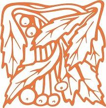 INDIGOS 4051095349051 Wandaufkleber - e95 wunderschöne Blätter mit Kuller, Vinyl, haselnussbraun, 120 x 117 x 1 cm