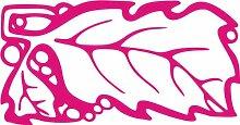INDIGOS 4051095390664 Wandaufkleber - e118 stylische Blätter mit Kügelchen, Vinyl, rosa, 40 x 21 x 1 cm