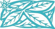 INDIGOS 4051095393238 Wandaufkleber - e120 stylische Blätter mit Sternblümchen, Vinyl, türkis, 160 x 84 x 1 cm
