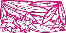 INDIGOS 4051095446255 Wandaufkleber - e136 Blätter mit Sternblümchen, Vinyl, rosa, 160 x 80 x 1 cm