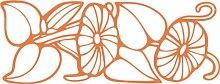 INDIGOS 4051095483915 Wanderaufkleber - e150 wunderschöne Blätter mit strahlenden Blümchen, Vinyl, haselnussbraun, 160 x 91 x 1 cm