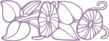 Indigos 4051095483946 Wanderaufkleber - e150 wunderschöne Blätter mit strahlenden Blümchen, Vinyl, flieder, 160 x 91 x 1 cm
