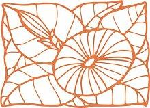 INDIGOS 4051095507291 Wanderaufkleber - e177 hübsche verzierte Pflanze, Vinyl, haselnussbraun, 120 x 115 x 1 cm