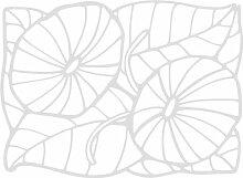 INDIGOS 4051095508151 Wanderaufkleber - e178 hübsche verzierte Pflanze, Vinyl, silber, 120 x 116 x 1 cm