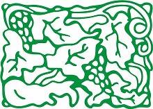 INDIGOS 4051095509042 Wanderaufkleber - e179 hübsche verzierte Pflanze, Vinyl, grün, 120 x 114 x 1 cm