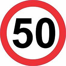 INDIGOS UG - Aufkleber - Sicherheit - Warnung - 50