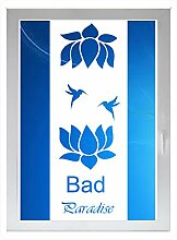 INDIGOS UG - Bad Paradise - Farbe: weiss - 96x37