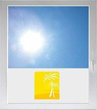 INDIGOS UG Dekoration / Sonnenschutz / Sichtschutzfolie / Glasdekorfolie / Fensterfolie mit Motiv / satiniert / blickdicht - GMD467 - Palmen - 1000 mm Länge - 500 mm Höhe