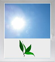 INDIGOS UG Dekoration / Sonnenschutz / Sichtschutzfolie / Glasdekorfolie / Fensterfolie mit Motiv / satiniert / blickdicht - GMD447 - Blättern des Grünen Tees - 1000 mm Länge - 500 mm Höhe