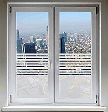 INDIGOS UG Fensterfolie Sonnenschutz Sichtschutzfolie Glasdekorfolie Stripes satiniert blickdicht - 800mm Breite x 500mm Höhe - auch mit Individueller Breite