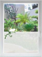 INDIGOS UG Glasdekorfolie Sichtschutzfolie Fensterfolie Sonnenschutz Chamäleon satiniert blickdicht ORACAL® - 1000mm Breite x 500mm Höhe - auch mit Individueller Breite