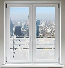 INDIGOS UG Sonnenschutz Kranich Sichtschutzfolie Glasdekorfolie Zugvögel Fensterbild Schilf satiniert blickdicht - 600mm Breite x 500mm Höhe - auch mit Individueller Breite