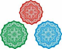 INDIGOS UG - WANDTATTOO / Wandsticker / Wandaufkleber / Aufkleber bunt ME211 Ornament Kreise Pflanze Teppich Tribal 120 x 94 cm