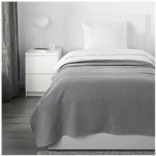 INDIRA IKEA Tagesdecke in grau; 100% Baumwolle;