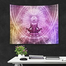 Indisch Buddha Wandteppich Wandbehang Yoga Chakra