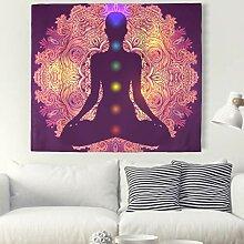 Indisch Mandala Buddha Chakra Wandteppich
