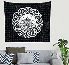 Indisch Schwarz Keltisch Kreuz Mond Sonnen Knoten