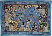 indisch Wandbehang Dekorative Stickerei Design Elefant Arbeit Wandteppiche