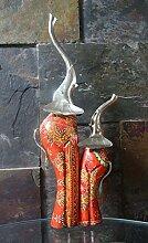 Indische dekorative Holz Elefant Figur Statue Hohe Skulptur Tier Tisch Top Ornamente