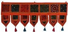 Indische dekorative Stickerei Arbeit Design Baumwolltür Valance Tapestr