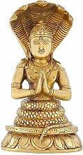 Indische Kunst Haus Dekoration Religiöse Geschenke Patanjali Statue Messing hinduismus 20,3cm, 2,1kg