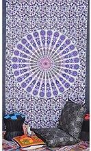 Indische Mandala Hippie Tapisserie Böhmische Wand Hänge (220x150 cm) , 010